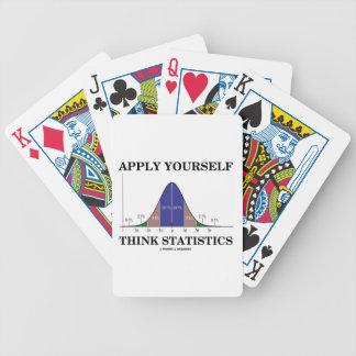 Aplique-se pensam estatísticas (o humor da curva baralho para pôquer