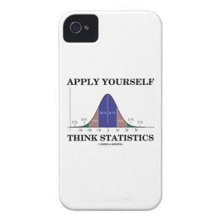 Aplique-se pensam estatísticas (o humor da curva capinhas iPhone 4