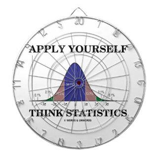 Aplique-se pensam estatísticas (o humor da curva d jogo de dardos