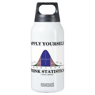 Aplique-se pensam estatísticas (o humor da curva garrafa de água térmica