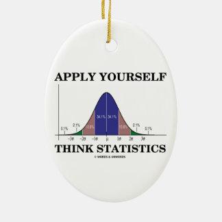 Aplique-se pensam estatísticas (o humor da curva ornamento de cerâmica oval