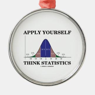Aplique-se pensam estatísticas (o humor da curva ornamento redondo cor prata