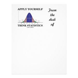 Aplique-se pensam estatísticas (o humor da curva papel timbrado