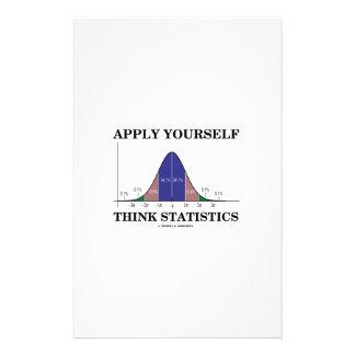 Aplique-se pensam estatísticas (o humor da curva papelaria