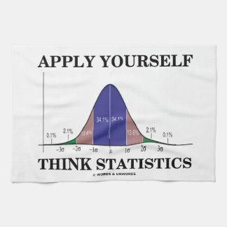 Aplique-se pensam estatísticas (o humor da curva toalha