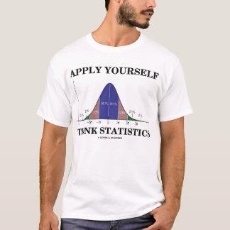 Aplique-se pensam estatísticas (o humor do Stats) Tshirt