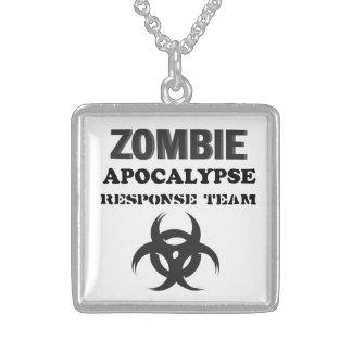 Apocalipse quadrado do zombi da colar da prata est