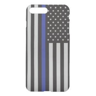 Apoie a bandeira americana fina de Blue Line da Capa iPhone 8 Plus/7 Plus