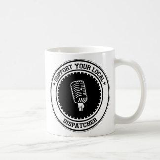 Apoie seu expedidor local caneca de café