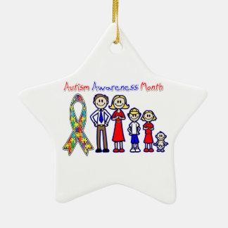 Apoio da família do mês da consciência do autismo