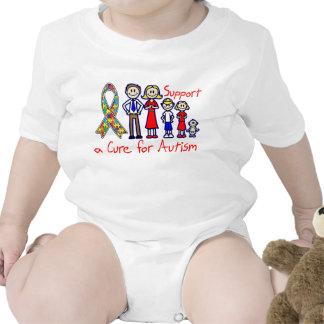 Apoio da família uma cura para o autismo t-shirt