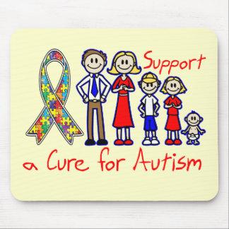 Apoio da família uma cura para o autismo mousepad