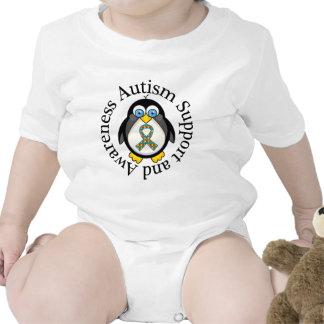 Apoio do autismo e ideia do presente da macacãozinhos para bebê