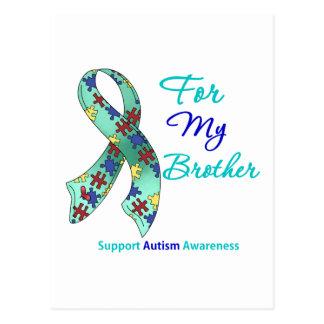 Apoio do autismo para meu irmão cartão postal