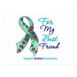 Apoio do autismo para meu melhor amigo cartão postal