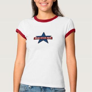 Apoio militar da família da mamã da estrela azul camisetas