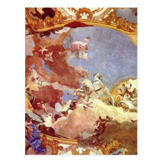 Apollo conduz Frederick Barbarossa Beatrix Cartão Postal