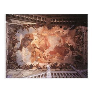 Apollo e os continentes por Giovanni Battista Cartão Postal