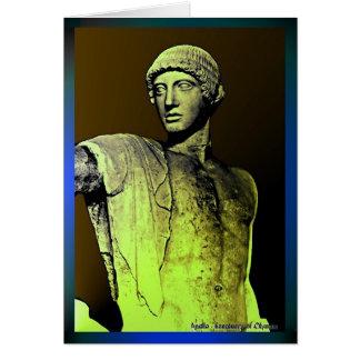 Apollo no mirrow cartão comemorativo