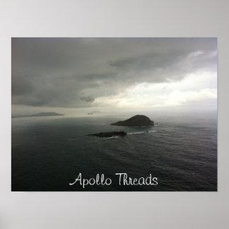 Apollo rosqueia ilhas do coelho de Havaí Poster