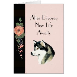 Após o cartão do Malamute do Alasca do divórcio