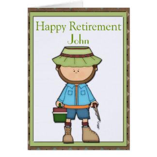 Aposentadoria do pescador cartão comemorativo