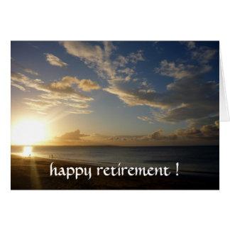 aposentadoria do por do sol cartão comemorativo
