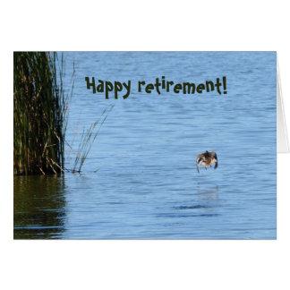 Aposentadoria feliz! cartão comemorativo