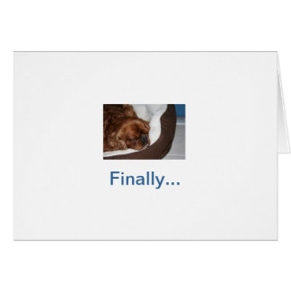 Aposentadoria parva do cão cartão comemorativo