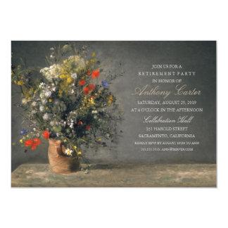 Aposentadoria rústica da pintura do vintage do convite 12.7 x 17.78cm