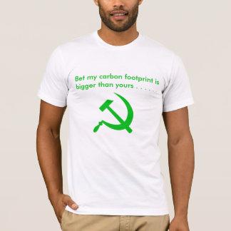Aposte que minha pegada do carbono é mais grande t-shirts
