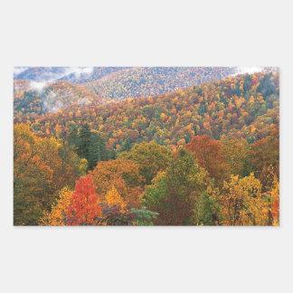 Appalachian luxúria Carolina da paisagem da cena Adesivo Retangular