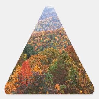 Appalachian luxúria Carolina da paisagem da cena Adesivo Em Forma De Triângulo