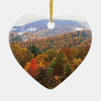 Appalachian luxúria Carolina da paisagem da cena Enfeites De Natal