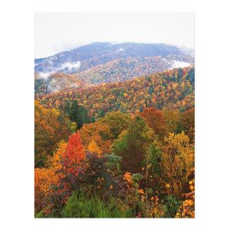 Appalachian luxúria Carolina da paisagem da cena Papeis De Carta Personalizados