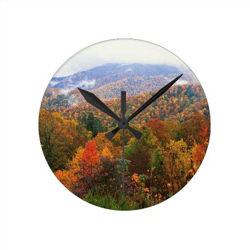 Appalachian luxúria Carolina da paisagem da cena Relógios Para Pendurar