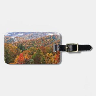 Appalachian luxúria Carolina da paisagem da cena Tag De Bagagem