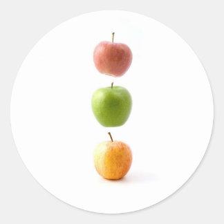 Apple cronometra adesivos redondos