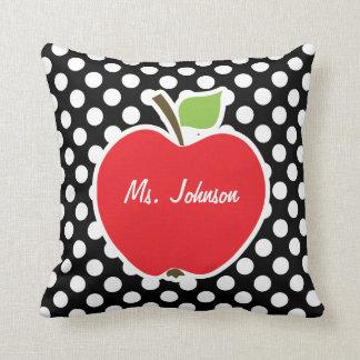 Apple em bolinhas preto e branco travesseiros de decoração
