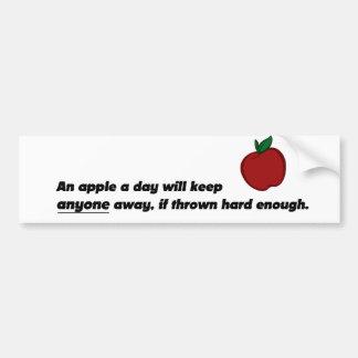 Apple engraçado Bumpersticker Adesivo Para Carro