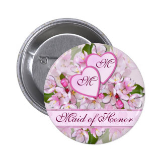 APPLE FLORESCE botão da madrinha de casamento do ~ Bóton Redondo 5.08cm
