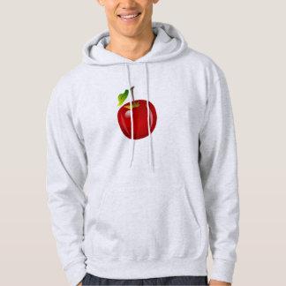 Apple vermelho moletom com capuz