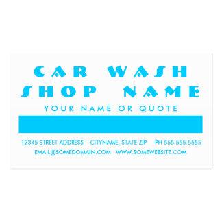 Apreciação do cliente do LAVAGEM DE CARROS (quadra Cartão De Visita