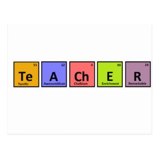 Apreciação do professor da mesa periódica cartão postal