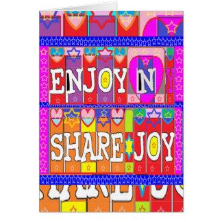 APRECIE A ALEGRIA da parte de n. por Naveen Joshi Cartão Comemorativo