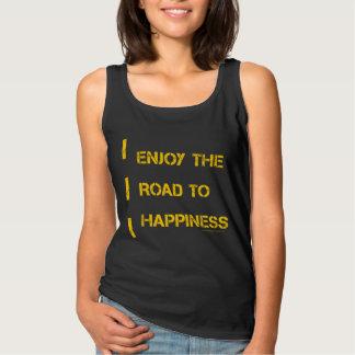Aprecie a estrada à felicidade regata basic