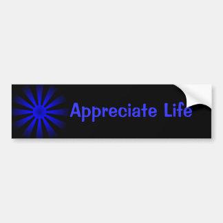 Aprecie a vida adesivo para carro