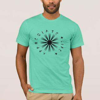 Aprecie a vida camisetas