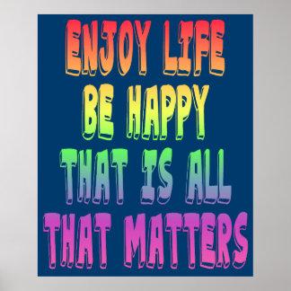 Aprecie a vida poster