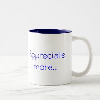 Aprecie mais… caneca de café em dois tons